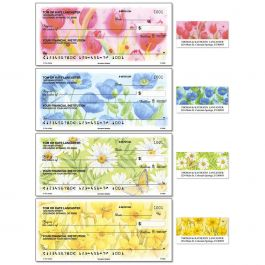 Springtime Delights Single Checks With Matching Address Labels