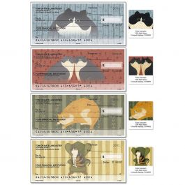 Cozy Cats Personal Single Checks With Matching Address Labels