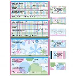Retro Patterns Single Checks With Matching Address Labels
