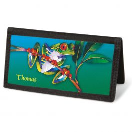 Frogs  Checkbook Covers - Personalized