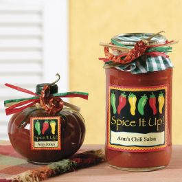 Chili Peppers Canning Labels - Small