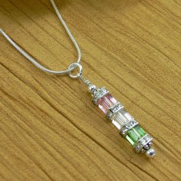 Birthstone  Crystal Cube Necklace  (4-7 Cubes)