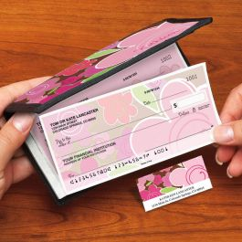 Shades of Pink Side-Tear Single Checks with Matching Address Labels