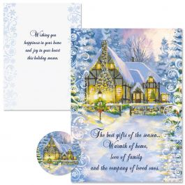 Snowy Cottage Christmas Cards  -  Nonpersonalized