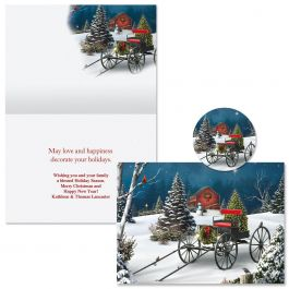 Midnight Singers Christmas Cards - Personalized