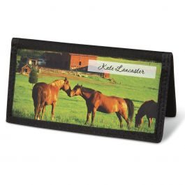 Horse Enthusiast  Checkbook Cover - Personalized