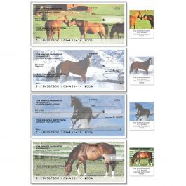 Horse Enthusiast Single Checks With Matching Address Labels