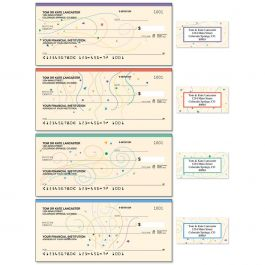 Confetti Single Checks With Matching Address Labels