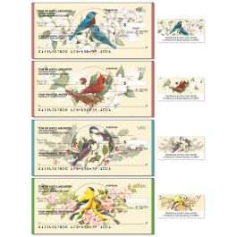 Birds & Blossoms Duplicate Checks With Matching Address Labels