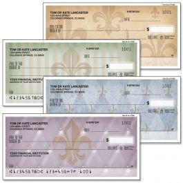 Bronze Fleur De Lis Personal Duplicate Checks