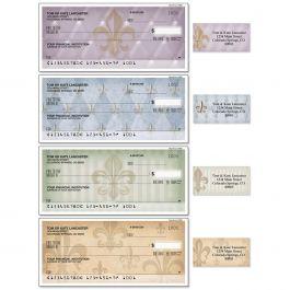 Bronze Fleur De Lis Duplicate Checks With Matching Address Labels