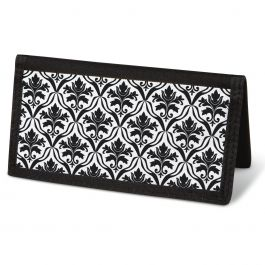 Elegant in Black Checkbook Cover - Non-Personalized