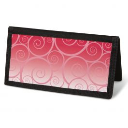 Swirly Girly  Checkbook Cover - Non-Personalized