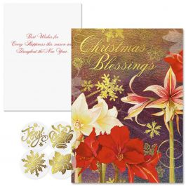 Ambiance Foil Christmas Cards  Nonpersonalized