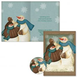 A Winter Hello Christmas Cards -  Personalized