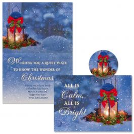Christmas Calm Christmas Cards - Personalized