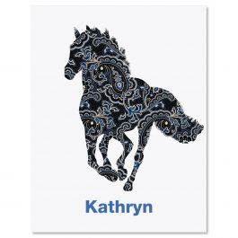 Horse Patterns Note Cards - Set of 12