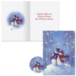 Snowy Snuggles Christmas Cards -  Nonpersonalized