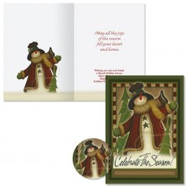 Celebrate the Season Christmas Cards -  Personalized
