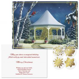 Shining Brightly  Foil Christmas Cards - Personalized