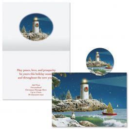 Starry Light Christmas Cards -  Personalized