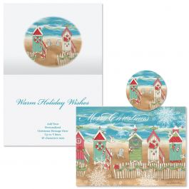 Holiday by the Sea Christmas Cards -  Personalized