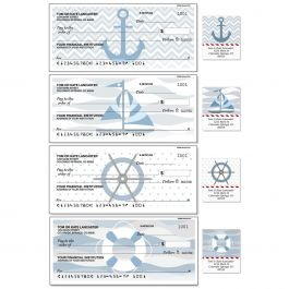 Nautical Chic Personal Duplicate Checks with Matching Address Labels