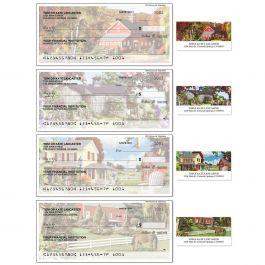 Country Life Single Checks with Matching Address Labels