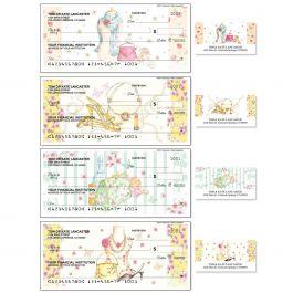 Fashionista Single Checks with Matching Address Labels