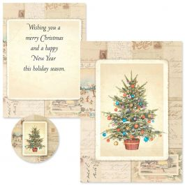 Victorian Tree  Christmas Cards -  Nonpersonalized