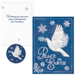 Snow Dove   Christmas Cards -  Nonpersonalized