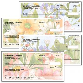 Watercolor Garden Personal Single Checks
