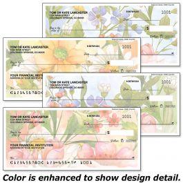 Watercolor Garden Single Checks