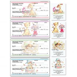 Cats & Dogs Single Checks with Matching Address Labels