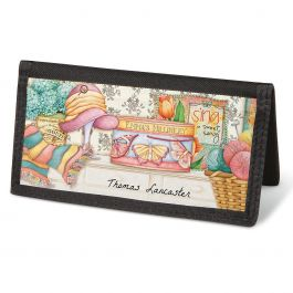 Cozy Comforts Checkbook Cover - Personalized