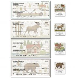 Woodland Lodge Single Checks with Matching Address Labels
