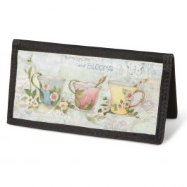 Teacups Checkbook Cover - Non-Personalized
