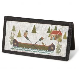 Woodland Lodge Checkbook Cover - Non-Personalized
