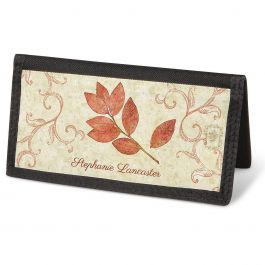 Fallen Leaves Checkbook Cover - Personalized