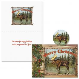 Christmas Moose Christmas Cards -  Nonpersonalized