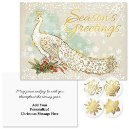 Majestic Foil Christmas Cards - Personalized