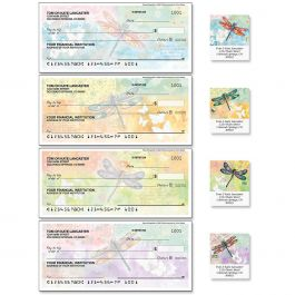 Vibrant Dragonflies Duplicate Checks with Matching Address Labels