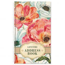 Floral Daydream Lifetime Address Book