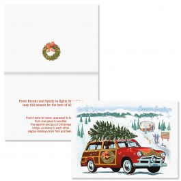 Nostalgic Greeting Christmas Card - Personalized
