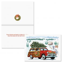 Nostalgic Greeting Christmas Card - Nonpersonalized