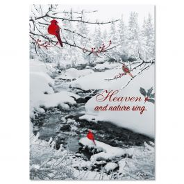 Heavenly Cardinals Christmas Cards -  Personalized