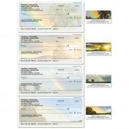 Country Rainbows Duplicate Checks with Matching Address Labels