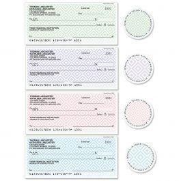 Diamond Pattern Single Checks with Matching Labels