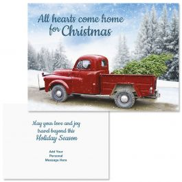 Winter Road Christmas Cards - Personalized