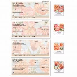 Floral Daydream Duplicate Checks With Matching Labels